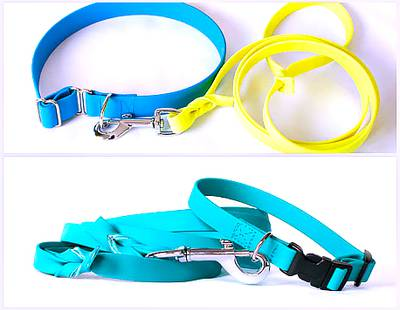 Dog collars and leashes Biothane