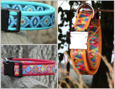 Dog collars with softshell inside