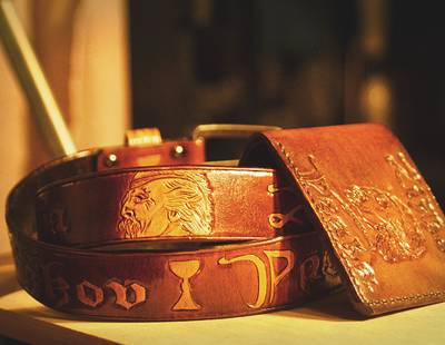 Belt from leather