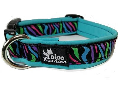 Dinofashion collar colored zebra