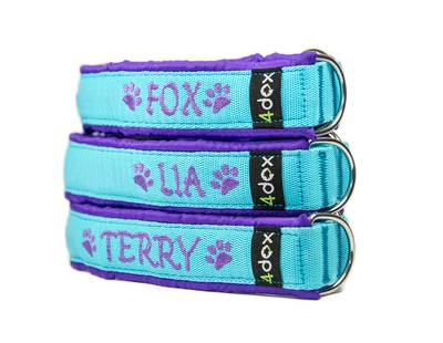 Dog collars with embroidery