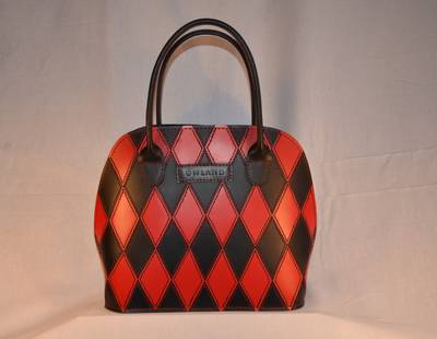 Ladies handbag black/red combination