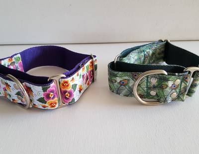 Floral and peacock collars
