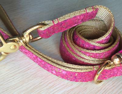 Luxury pink/gold leash