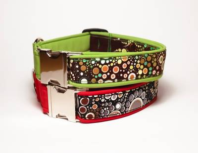 Dog collars bubble stone