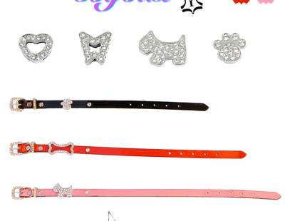 Dog collars with charms