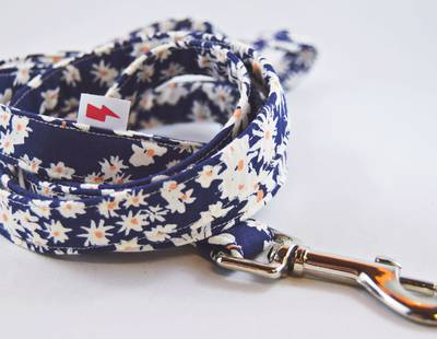 Navy Daisy Leash