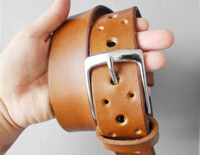 Leather belt - EVAN
