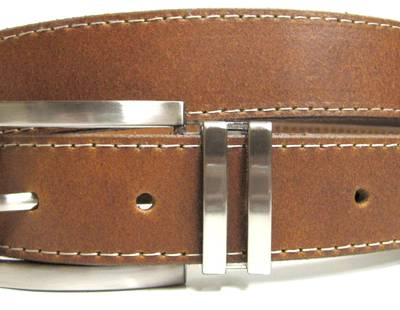 Leather belt light brown