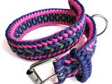 Paracord collar pink/purple