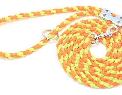 Dog leash yellow/orange