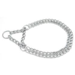 Double chain collar with martingale