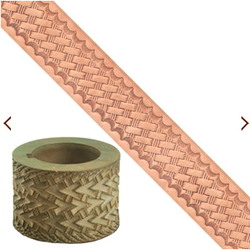 Embossing Roll - Basketweave - narrow