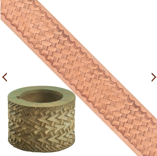 Embossing Roll - Basketweave - wider