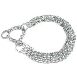 Triple chain collar with martingale