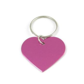 Aluminum Heart-Shaped Pet ID Tag