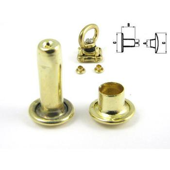 Brass Double cap rivet