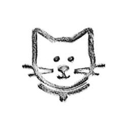 Cat Leather stamps 2-D mini