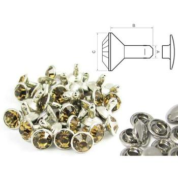 Rivet strass or antique - fermé (100 pcs)