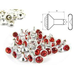Rivet strass rouge - autotaraudeuse (100 pcs)