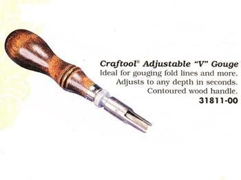 "Craftool Adjustable ""V"" Gouge"