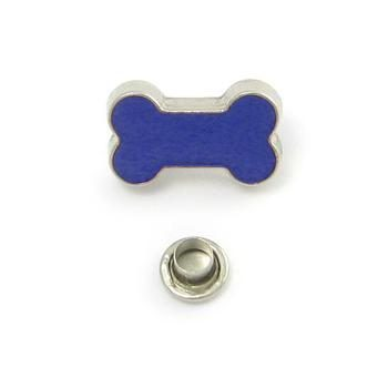 Decorative Rivet Bone Blue