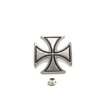 Decorative Rivet Maltese Cross