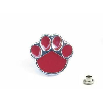 Decorative Rivet Paw Red
