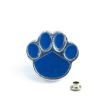 Decorative Rivet Paw Blue