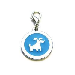 Dog identity ID tag - Doggie Blue