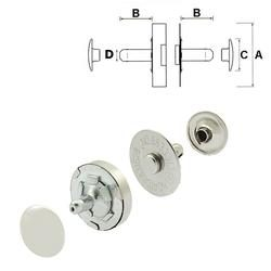 Double Rivet Magnetic Snaps