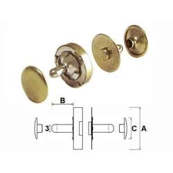 Double Rivet Magnetic Snaps Antique Brass