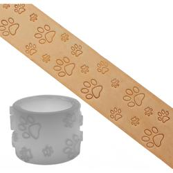 Embossing roll (Delrin) - Paw Motif