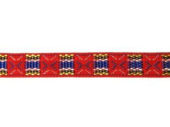 Embroidered Webbing - Tricolor