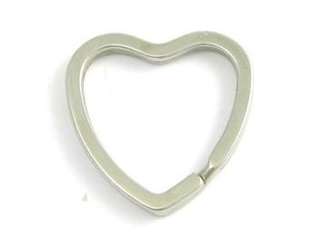 Heart Shaped Flat Split Ring