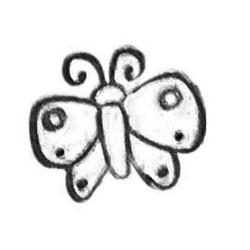 Butterfly Leather stamps 3-D mini