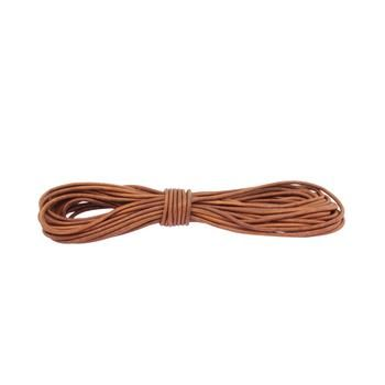 Round leather lace 3mm - Brown