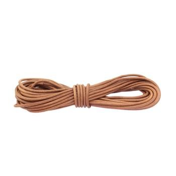 Round leather lace 4mm - Brown
