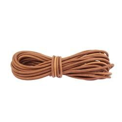 Round leather lace 5mm - Brown