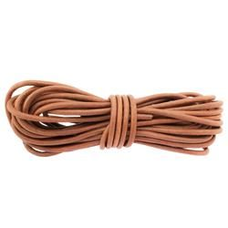 Round leather lace 6mm - Brown