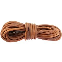 Round leather lace 8mm - Brown
