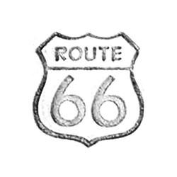 Route 66 Leather stamps 3-D mini