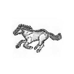 Running Horse stamps 3-D mini