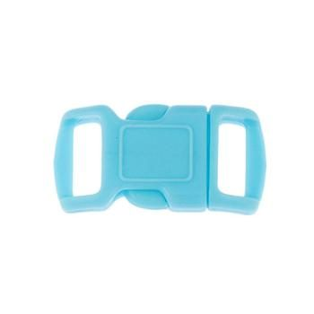 Side Release Buckle, Contoured 10mm Blue