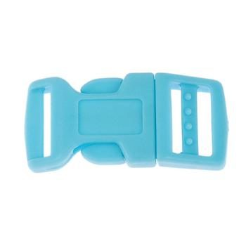 Side Release Buckle 17mm, Contoured Blue