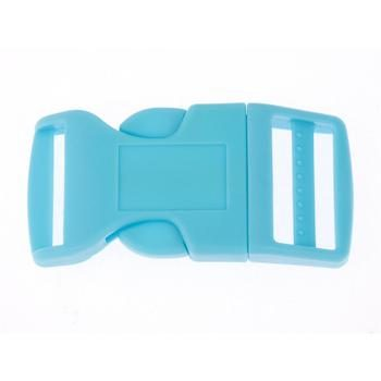 Side Release Buckle 25 mm, Contoured Blue