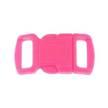 Side Release Buckle, Contoured 10mm Pink