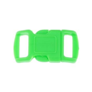 Side Release Buckle, Contoured 10mm Green