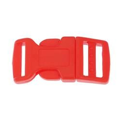 Side Release Buckle 17mm, Contoured Red