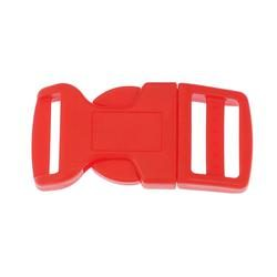 Side Release Buckle 20mm, Contoured Red